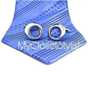 Men's MOD GQ Silver Chrome Cufflinks NEW Modern